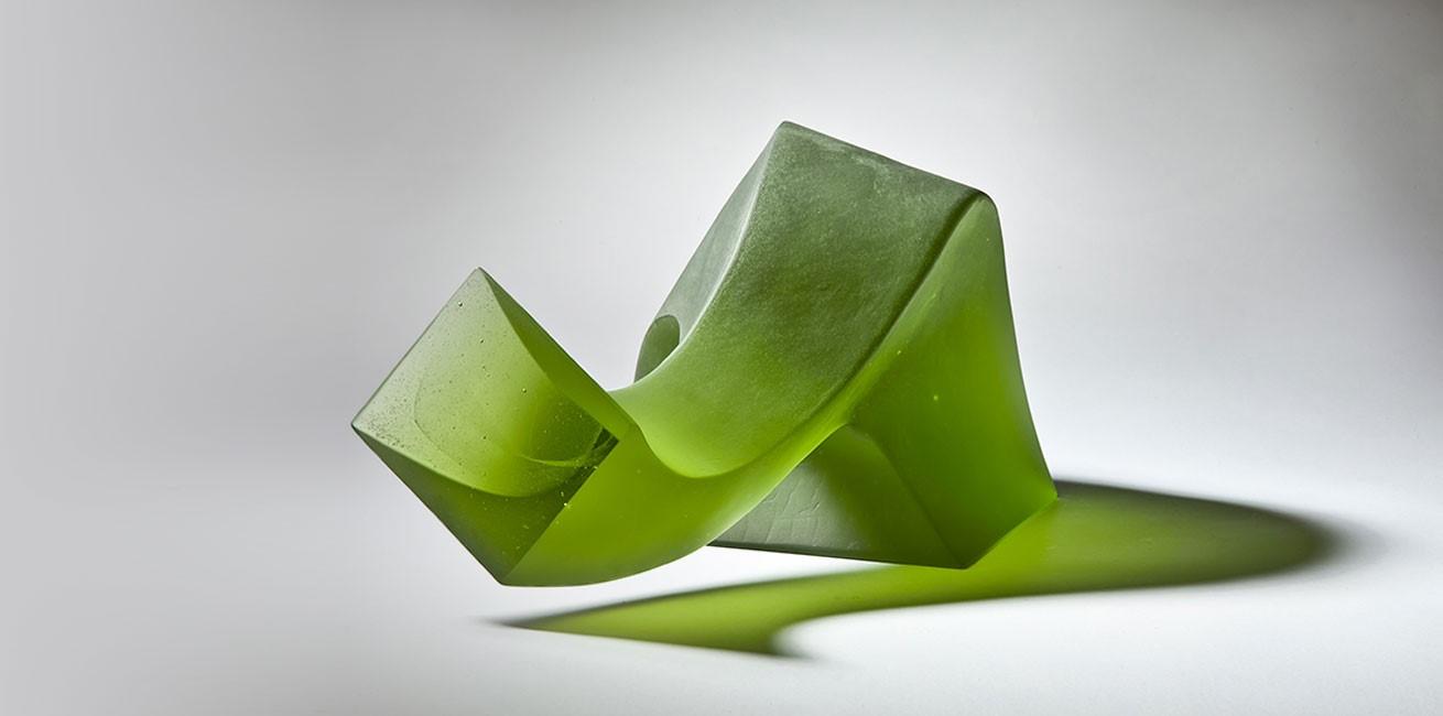 Big Green Curious (standing) - Karin Mørch